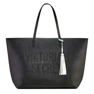 Victoria's Secret Black Tote Perforated Bag
